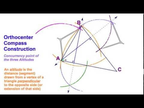 54 Orthocenter Compass Construction Acute Triangle Youtube