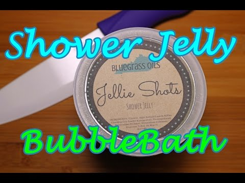 Cutting Shower Jelly for Bubble Bath Feat. Bluegrass Oils & Lavish Bath Box