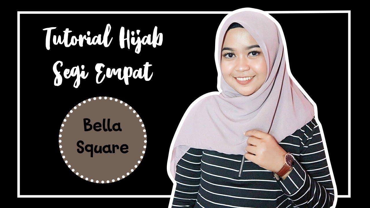 6 Style Tutorial Hijab Bella Square Simple Dianretno Youtube