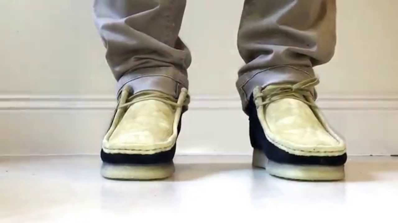 Supreme X Clarks Wallabie On Foot Video Youtube