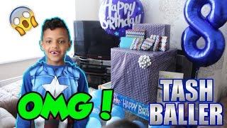 BIRTHDAY SURPRISE!! | MY 8TH BIRTHDAY PRESENT UNBOXING!! | TASH BALLER!!