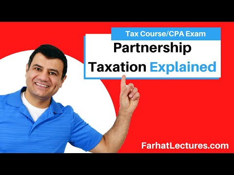 Partnership taxation - CPA exam regulation REG ch 21 p 1