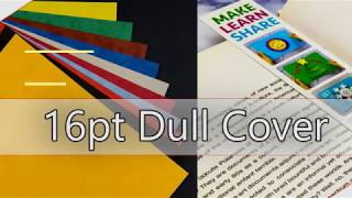 What is the 16pt dull cover with matte finish paper?