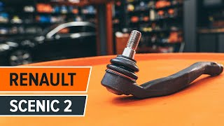 How to change a Track Rod End RENAULT SCENIC 2 TUTORIAL | AUTODOC