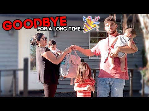 Saying Goodbye To Our 3 Kids...again (they're Used To This)