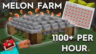 Minecraft Automatic Melon Farm - Easy 1100+ Melons per Hour - 1.16/1.15