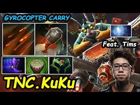 TNC KuKu - [Gyrocopter] Superstar Safelane  Feat Tims IO Basic Combo 16min   Dota 2 7.21 Rank