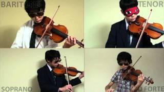 流浪の民を友人がバイオリンで弾いた動画です。 バリトン、テノール、メ...