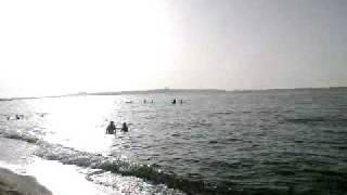 Spiaggia onda azzurra