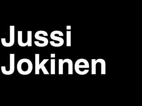 How to Pronounce Jussi Jokinen Carolina Hurricanes NHL Hockey Player Runforthecube