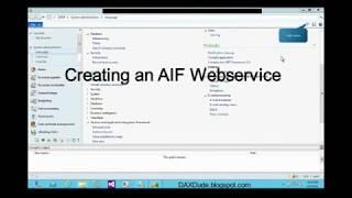 Créer une AX 2012 R2 FIA Webservice: étape par Étape