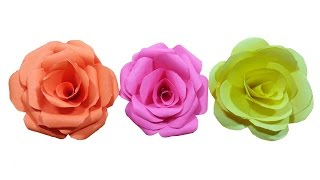 Repeat youtube video How to make paper Rose Flower (very easy) - HD