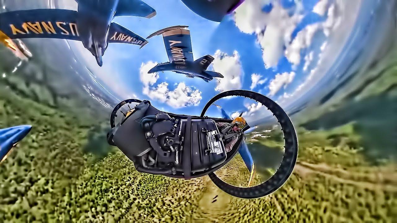 360 Degree Camera Captures Strange View Of Blue Angels