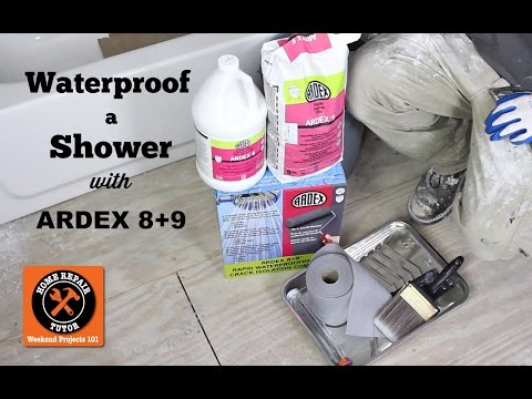 How to Waterproof a Shower with Ardex 8+9 -- by Home Repair Tutor