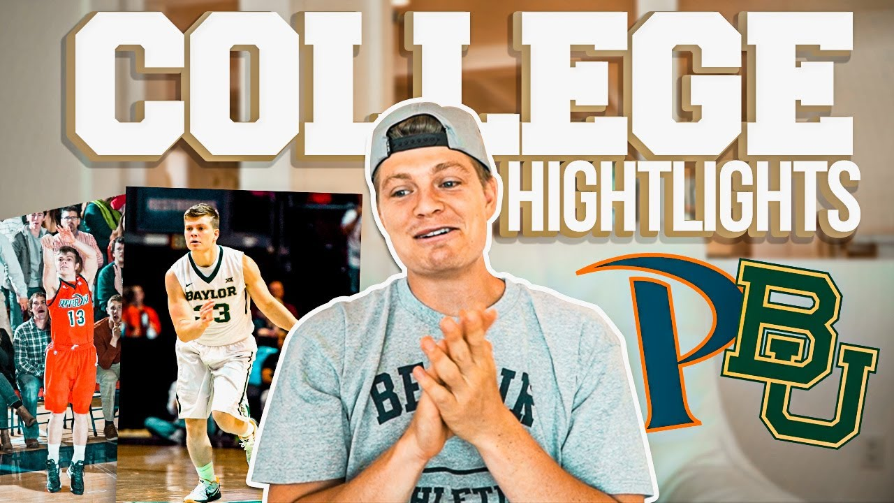 REACTING to my D1 College Basketball Highlights (Baylor)