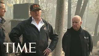 President Trump Visits Devastated Areas Impacted By Northern California Wildfire | TIME
