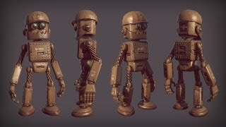 3ds Max and Photoshop Tutorial: Creating and Rigging a Low Poly Robot in 3ds Max and Photoshop