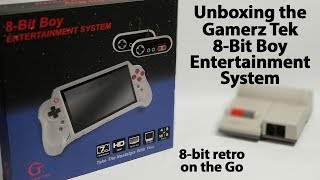 Unboxing the Gamerz Tek 8-Bit Boy Entertainment System Portable NES Clone Console with HDMI Output