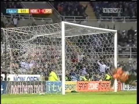 Newcastle - 1 x Sporting - 1 de 2004/2005 Uefa Fase Grupos D
