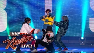 BTS performs Mic Drop Remix on Jimmy Kimmel Live Holiday Shopping w...