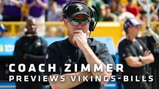 Zimmer: Handling Bills' Misdirection Plays, Pressuring Allen Keys To Getting A Win | Vikings