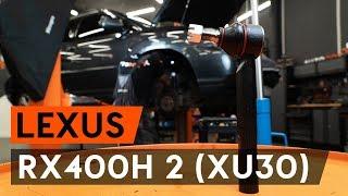 Réparation LEXUS RX par soi-même - voiture guide vidéo