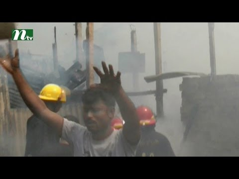 Fire in Farmgate's slum | News & Current Affairs