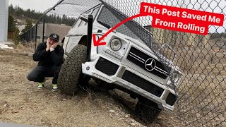 I CRASH My Mercedes G63 AMG THROUGH A METAL FENCE! Drift Goes Wrong...