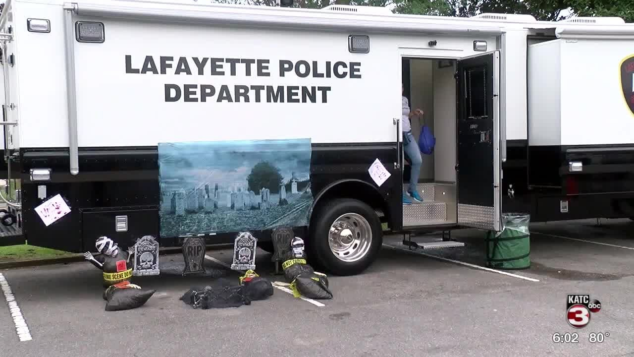 Lafayette Police Department holds annual Trunk-or-Treat event