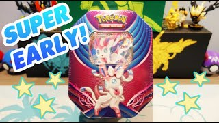 NEVER BEFORE SEEN! Sylveon GX Tin Opening
