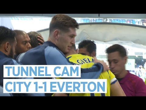 BARKLEY SLAPS STONES!   TUNNEL CAM   City 1-1 Everton