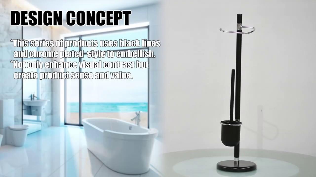Rangement Papier Toilette Original fourniture autoportante de brosses de toilettes et de