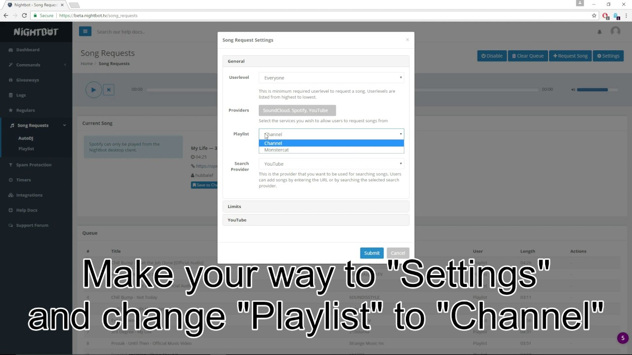 Make your own playlist