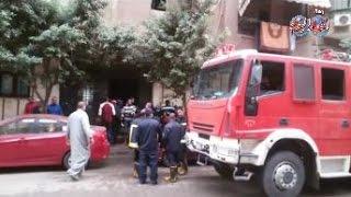 أخبار اليوم |  حريق بعمارة سكنية  في حدائق القبة