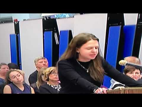 Suspended Secaucus High principal's daughter addresses school board, May 10, 2018