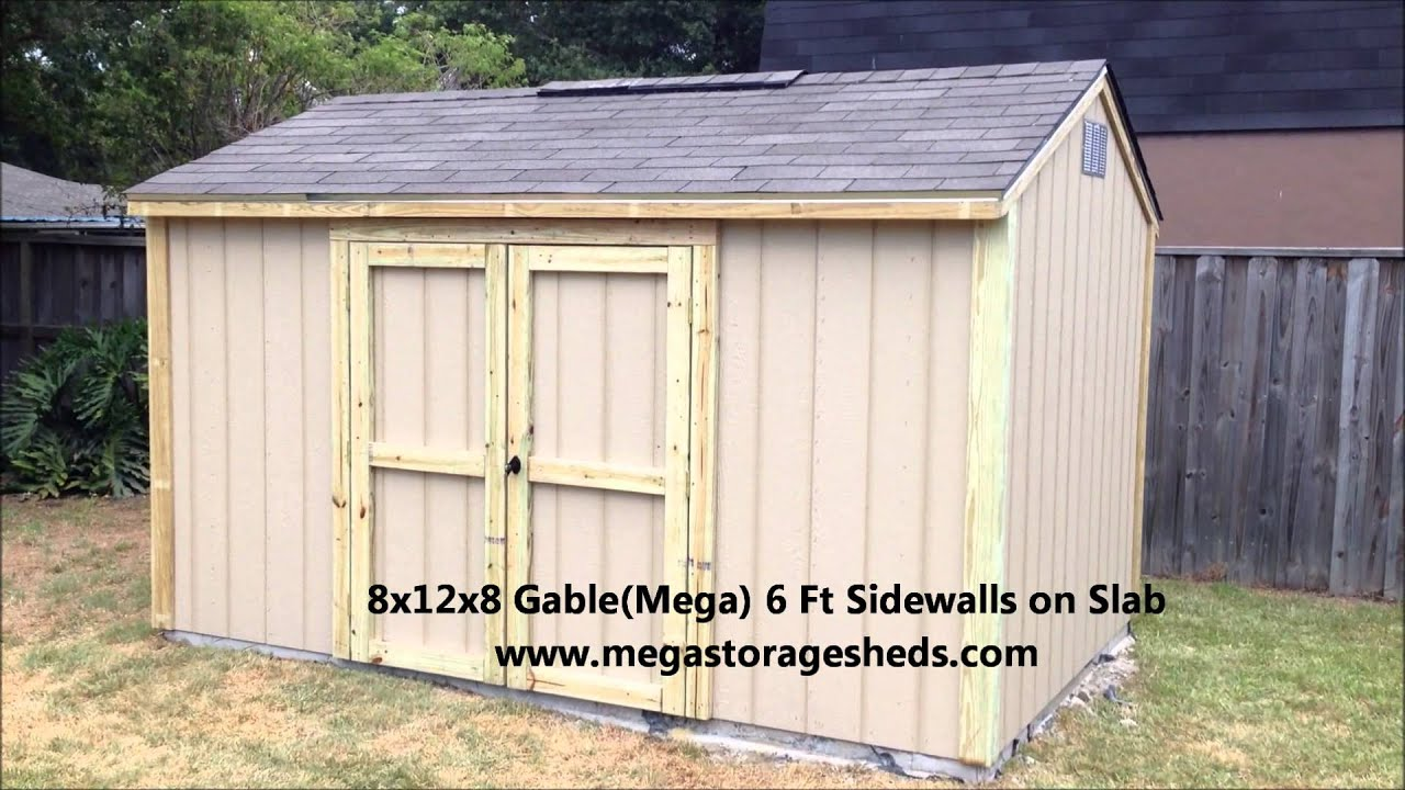 Storage sheds houston tx 8x12x8 youtube for Storage 77080