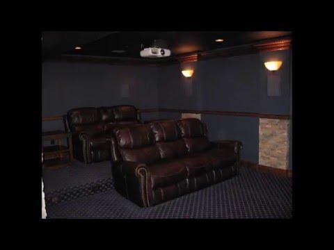 DIY Home Theater Room (All Custom)   YouTube