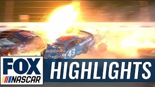 Almirola, Patrick, and Logano Involved in Violent Collision    2017 KANSAS   FOX NASCAR