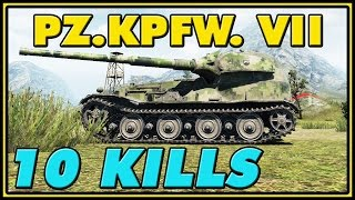 World of Tanks | Pz.Kpfw. VII - 10 Kills - 9K Damage
