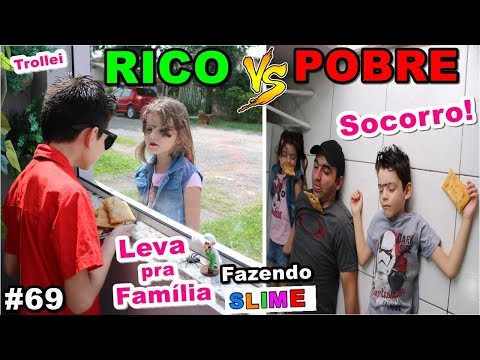 RICO VS POBRE FAZENDO AMOEBA / SLIME #69