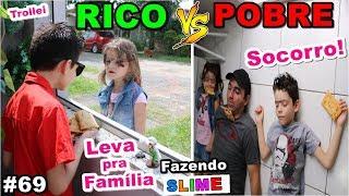 RICO VS POBRE FAZENDO AMOEBA / SLIME #69 thumbnail