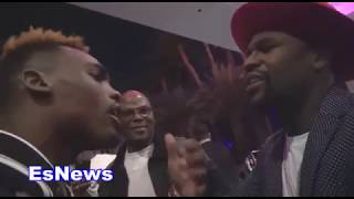 Floyd Mayweather Shares With Jermell Charlo What MAB Stands For  EsNews Boxing