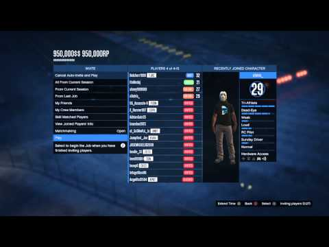 [PS3/4] GTA V Hacked Jobs (950,000$$ + 950,000RP) (DOESNT WORK ANYMORE)