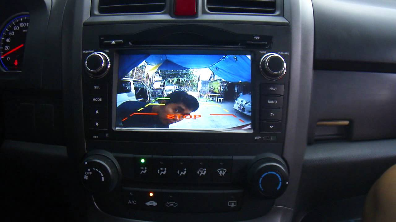 Honda CRV OEM Head unit DVD GPS - YouTube