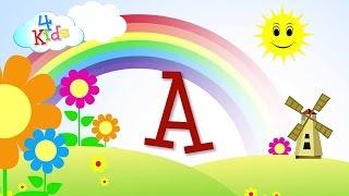 ABC Buchstaben lernen für Kinder. Das Alphabet in Großbuchstaben A bis Z in Deutsch