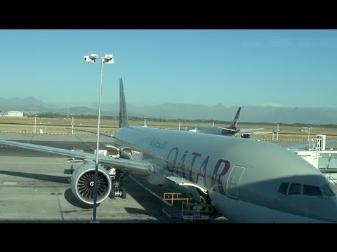 Qatar Airways Business Class on a 777-300ER, Cape Town to Doha