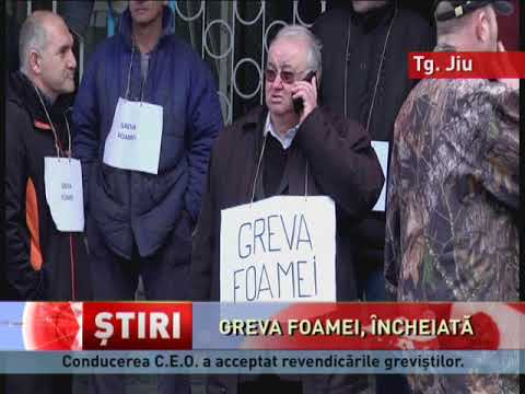 Greviștii foamei de la Complexul Energetic Oltenia au renunțat la protest