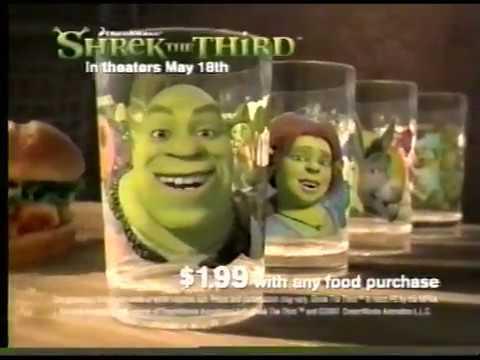 "Download McDonald's ""Shrek the Third"" glasses commercial (2007)"