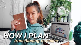 HOW I PLAN AND ORGANIZE MY LIFE | Switching to Online College Classes, Google Calendar, My Planner!