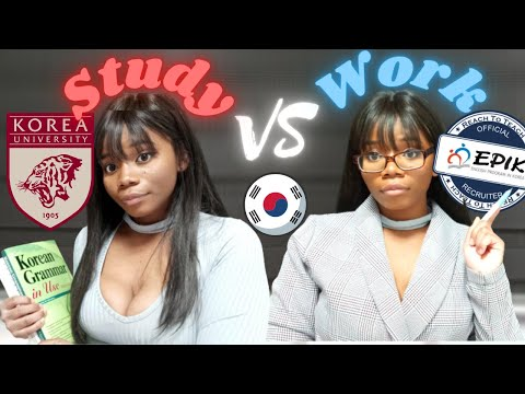 Studying in korea vs  Working in Korea  🇰🇷  Pros and Cons    Black and Abroad